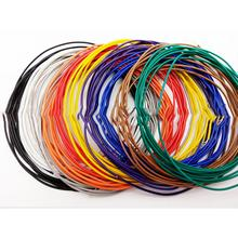 5/10 Meters UL 1007 Wire 26AWG 1.3mm PVC Wire Electronic Cable UL Certification Insulated LED Cable For DIY Connect 10Colors(China)