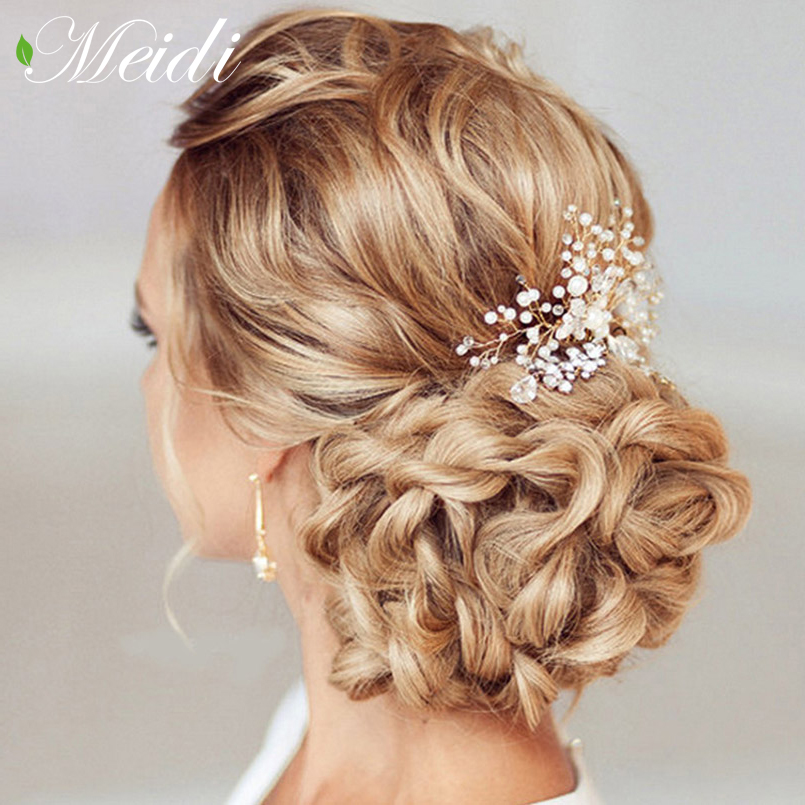 Жемчуг Для женщин гребни свадебные аксессуары для волос Pin Тиара Свадебные клипы Хрустальная корона невесты украшения для волос SP0136