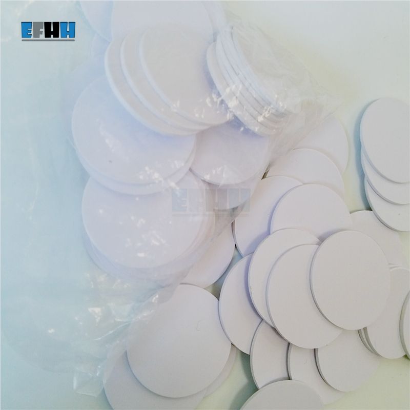 100Pcs/lot 125KHZ TK4100/EM4100 Diameter 25mm RFID Coin Card Read Only ID Card In Access Control Card