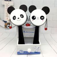 Panda Hot Sales Souvenir Lovely Panda Baby Wave Drum Toy for Newborns Comfort Baby Bell Birthday Gift Children Growing Playmate