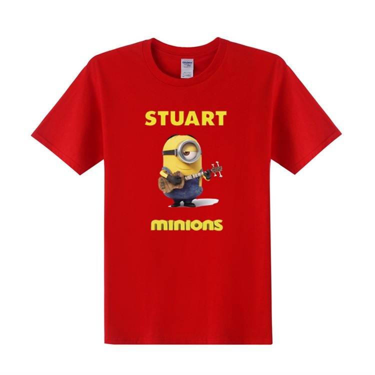 Short Sleeve Despicable Me Minions Stuart T-shirts
