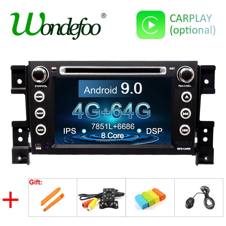 DSP IPS Android 9 0 4G 64G 2 DIN CAR GPS For SUZUKI GRAND VITARA dvd