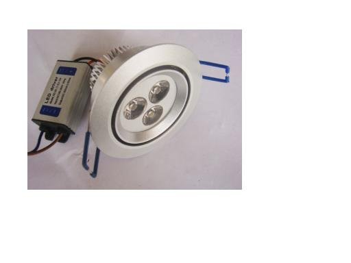 LED Ceiling Light 3*1W;,300lm,please advise the color you need;P/N:LS-B31-3W
