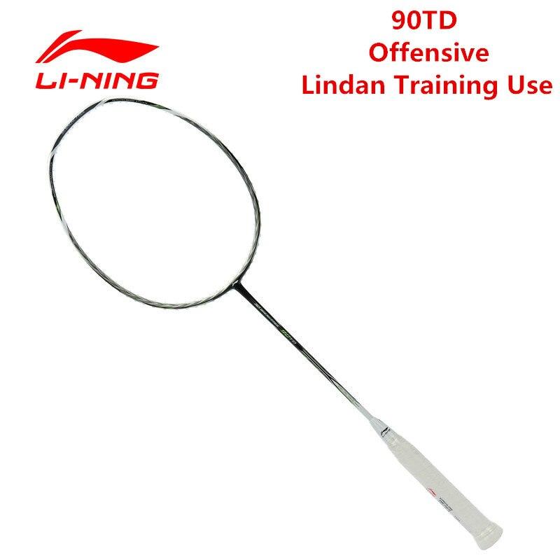 Li Ning 90TD ракетки для бадминтона белый зеленый Nano углеродного волокна Li Ning мяч Управление ракетка спорт AYPK016 Слегка мягкая l527OLB