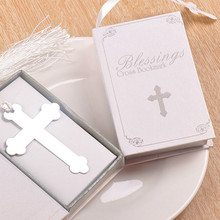 12pc Stainless Steel Metal Cross Bookmarks