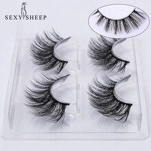 SEXYSHEEP 2 คู่ขนตาปลอมธรรมชาติปลอมขนตาแต่งหน้าชุด 3D Mink Lashes eyelash EXTENSION Mink eyelashes maquiagem