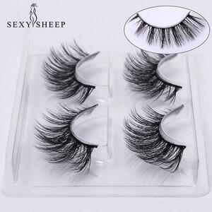Image 1 - SEXYSHEEP 2 pairs natural false eyelashes fake lashes makeup kit 3D Mink Lashes eyelash extension mink eyelashes maquiagem