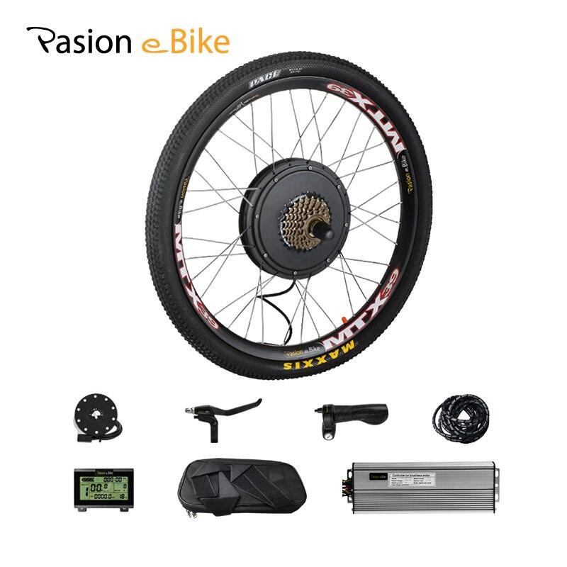 Kit de vélo électrique 1000 W 48 V kit de Conversion de vélo électrique vtt Kit de moteur arrière de vélo électrique 1000 W moteur de roue électrique 1000 W
