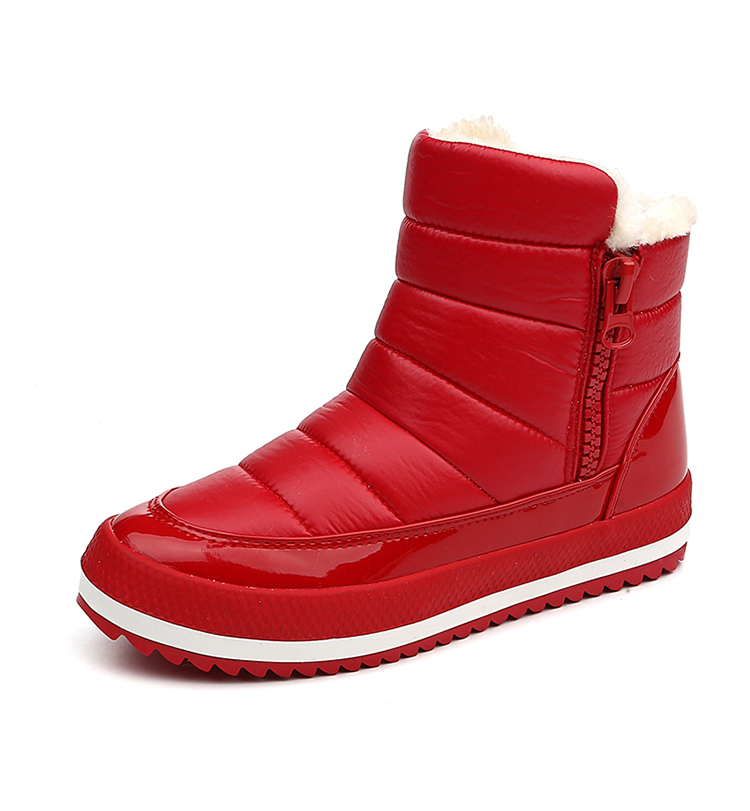Winter Waterproof  Snow Boots High Quality Fur Ankle Shoes