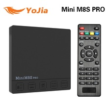 Oryginalny Mini PRO Amlogic M8S S912 Octa Rdzeń Android 7.1 TV pole DDR3 2 GB 16 GB MINI M8s PRO Set top Box Mediów odtwarzacz