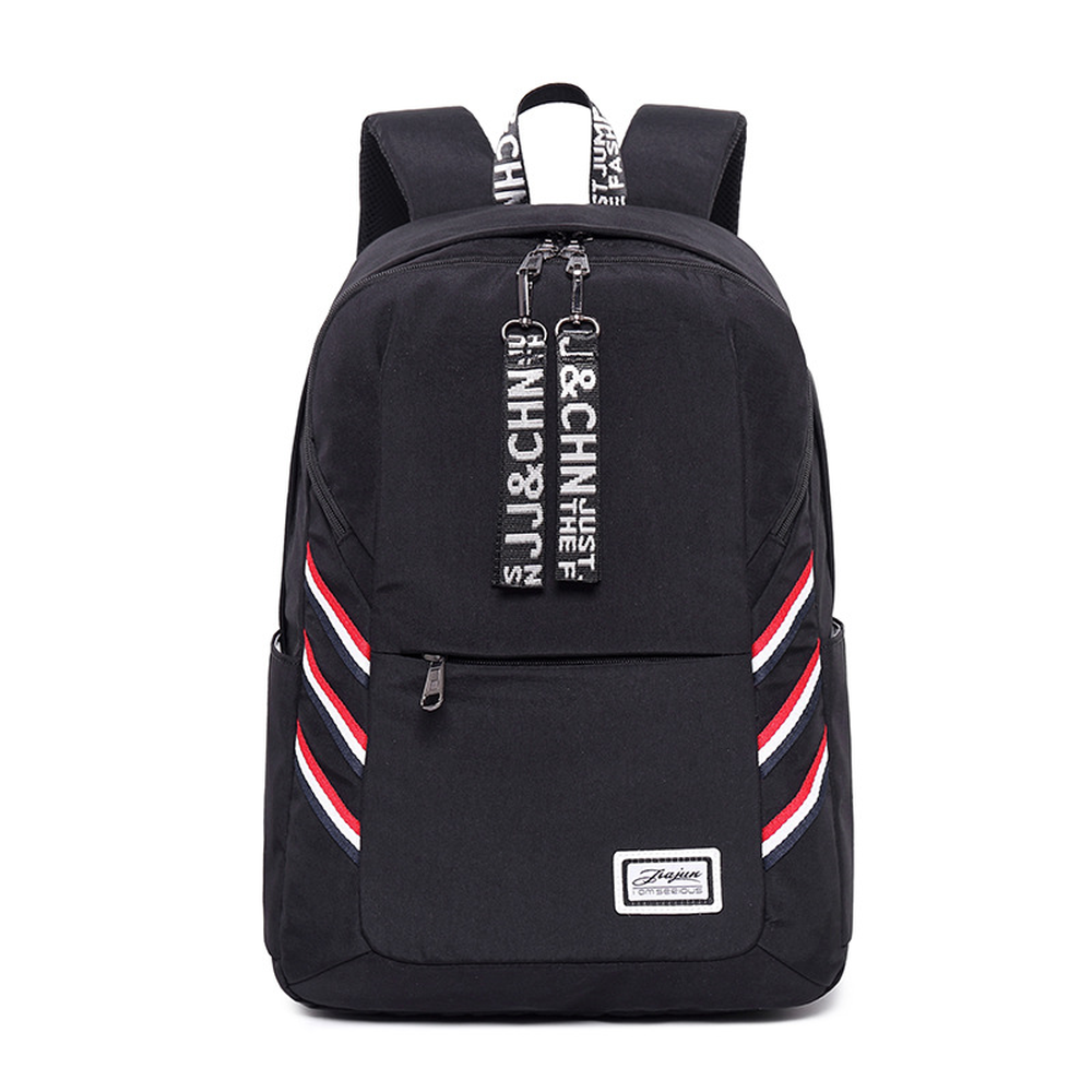 Large-capacity backpack casual female USB rechargeable waterproof Oxford cloth junior high school student bag