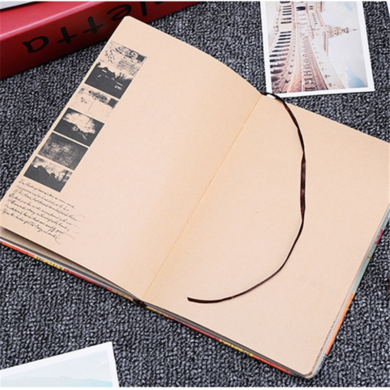 vintage a5 kraft paper notebook high quality diary notebooks