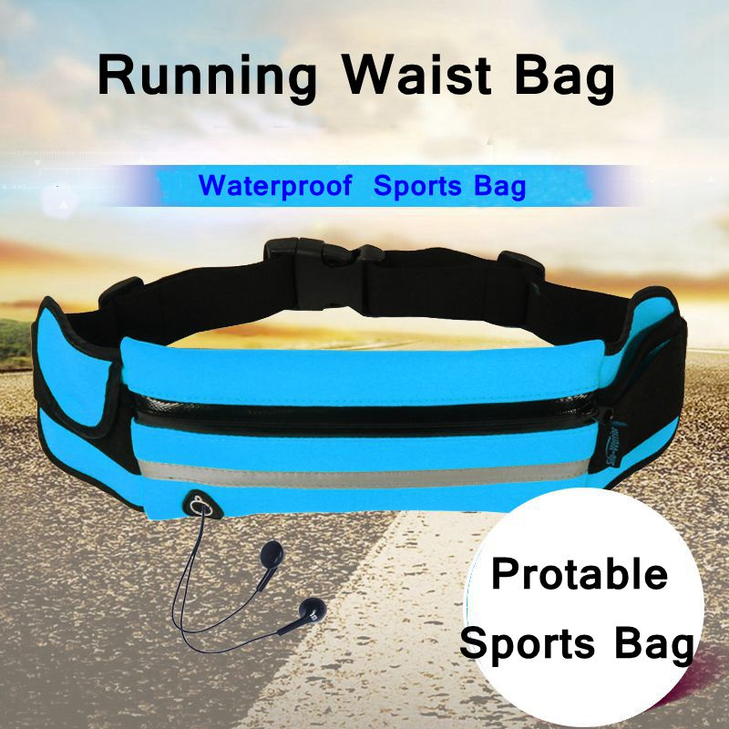 New Outdoor Running Waist Bag Waterproof Mobile Phone Holder Jogging Belt Belly Bag Women Gym Fitness Bag Lady Sport Accessories(China)