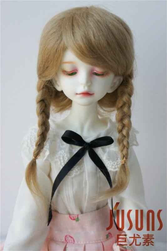 JD018 MSD 1/4 Mohair BJD wigs  Ana  braid doll hair 7-8inch doll accessories jd044 msd bjd mohair doll wigs 1 4 mid long curly 7 8inch doll wig magic mohair hair for vinyl doll porcelain doll hair
