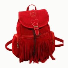 Texu/кисточкой сумка женщин рюкзак сумка ретро гравировки и Женская винтажная сумка рюкзак женские