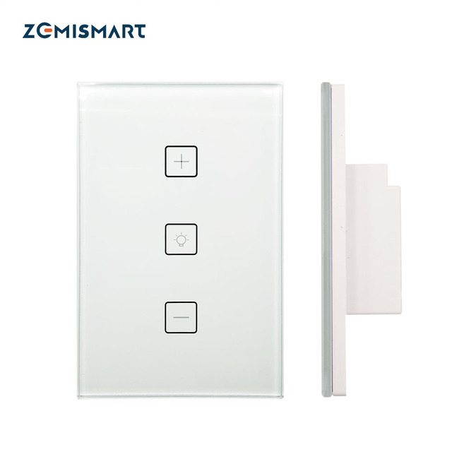 Zemismart Zigbee Dimmer Switch Work with Smartthings for Halogen Lamp Silicon Controlled LED WIFI APP Voice Touch Control