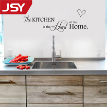 Jiangs Yu 1 PC New Kitchen is Heart of the Home Letter Pattern Wall Sticker PVC Removable Home Decor DIY wall art