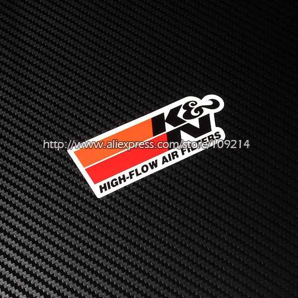 Hot sale K&N Air filter helmet motorcycle Sticker Decals Waterproof 16 ...