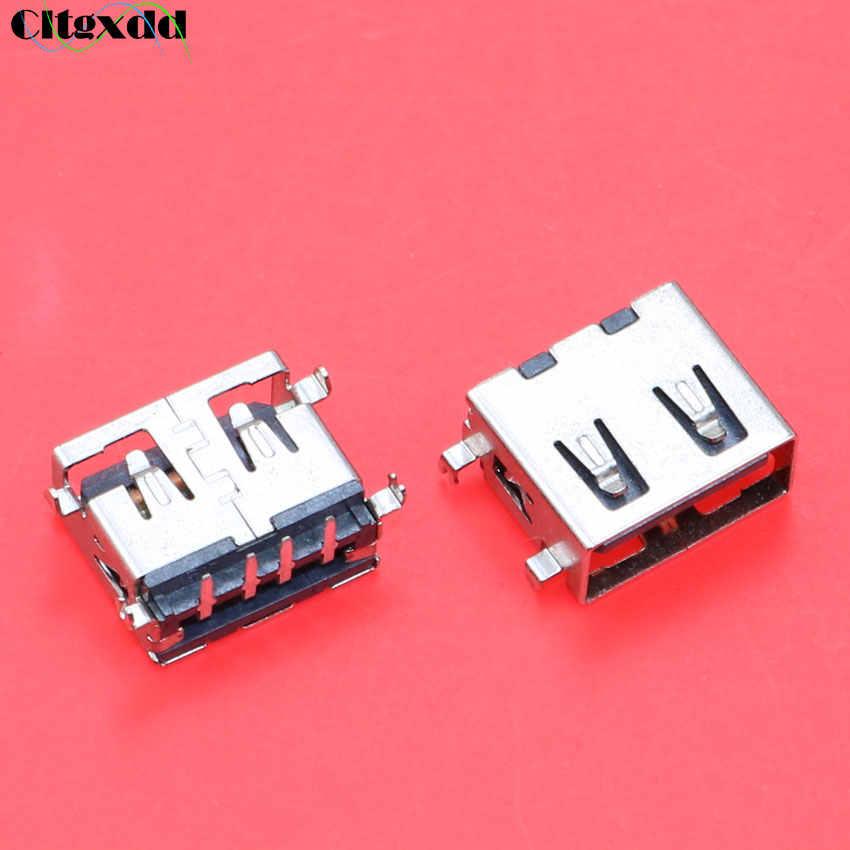 Cltgxdd 10mm cuerpo corto 2,0 conector USB jack 4 pines 90 grados AF curva pin USB hembra enchufe para ordenador portátil de escritorio, etc.