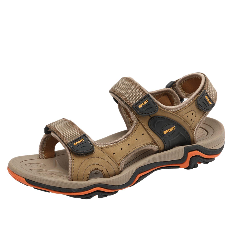 Classique Hommes Véritable khaki Décontractées Respirant Chaussures En Style Black Cuir Mode Sandales Abdb Pour hommes De brown D'été 0RxwHP7T