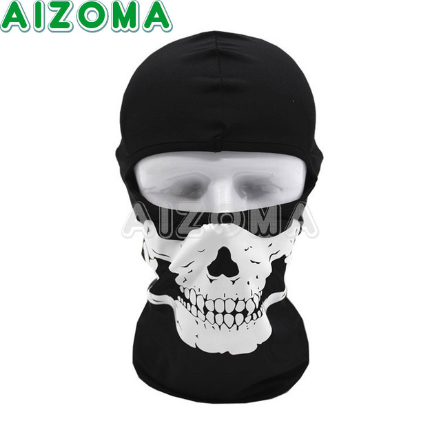 407ffb1c9ba9d Motorcycle Cycling Ski Outdoor Ghost Skull Balaclava Neck Hood Full Face  Mask 1pcs Skeleton Masks Hunting Army Soft Bicycle