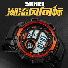 Skmei ladys digital alarm clock night light women s sport watch he female waterproof LED women