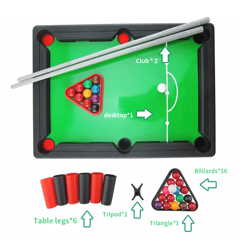 Portable Mini Pool Table Outdoor Members Competitive Interactive Toys Childrens Educational Toys Billiard Table 48*6*34 cm
