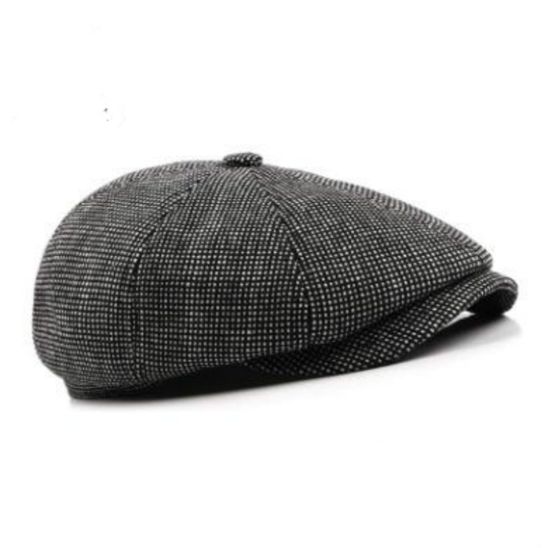old men winter flat cap outdoor thick warm male earflap beret casual  newsboy style ear flap winter peaked cap drop shipping-in Berets from Men s  Clothing ... f0aa1ae7d55