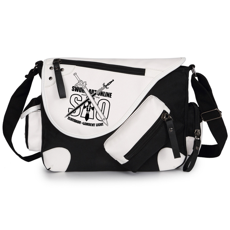 Japan Anime Sword Art Online SAO Canvas Casual Zipper Boys Girls Shoulder Bag Crossbody Bags Schoolbags Messenger Bag Gift 934 935 934xl 935xl printhead for hp officejet pro 6230 6830 6815 6812 6835 printer head for hp 934 printhead hp935 c2p18a head