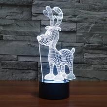 LED Lamps Lighting Fashion Desk Lights Colorful Desk Lamps LED Table Lights Reindeer Lamp 3D for Christmas