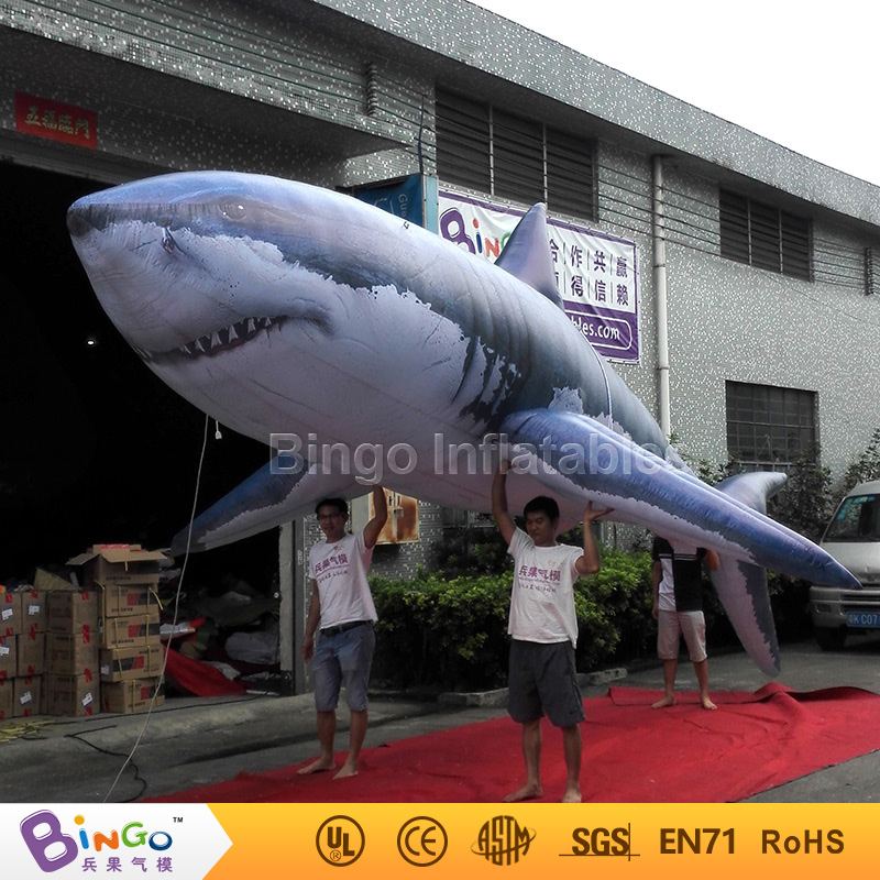 Customized Marine Theme 8M Giant Inflatable shark ocean toy shark replica for aquarium decoration carnival advertising 2018 HOT giant inflatable balloon for decoration and advertisements