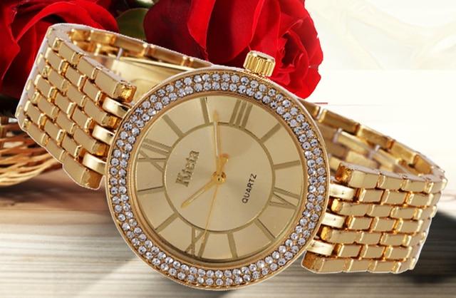 Donne orologi di Marca di Lusso Diamante Orologio D'oro del Quarzo Delle Signore Orologio Da Polso Donna Orologio Relogio Feminino Relojes Mujer Hodinky Donna