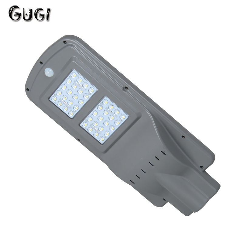 GUGI 40 w 60 w LED Solaire Rue Lumières Extérieure Motion Sensor Solar Power pour Jardin Chemin Étanche Wall Street LED Solaire Lampe