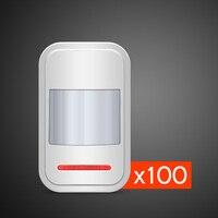 100 шт. оптовая продажа Kerui беспроводной PIR сенсор детектор движения 433 мГц для GSM PSTN охранной сигнализации системы Авто набор
