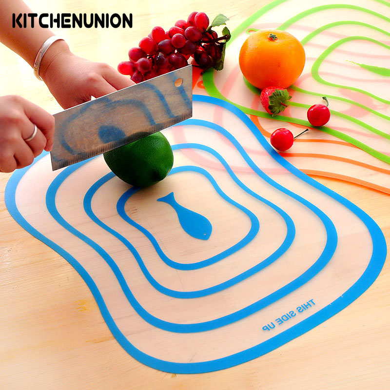 4 Pcs Lots Chopping Block Cutting Chopping Board Frosted Translucent Cutting Board 30 23 5 0