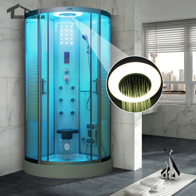 Quadrant Steam Shower Cubicle Enclosure Bath Cabin Room 800mm Luxury ...