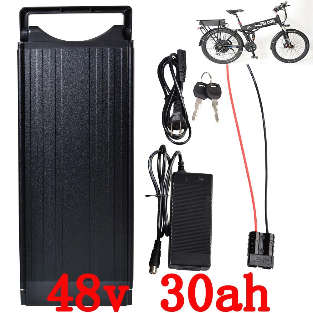 ЕС США нет налога на 1200ВТ 48В Электрический велосипед батареи 48v 30ah литий аккумулятор с портом USB задний фонарь использовать для LG 3400mah ячейка