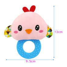 Newborn Rattles Toy Hand Bell Toddler Infant Rings Interactive Cute Cartoon Animal Plush Toys Baby Early