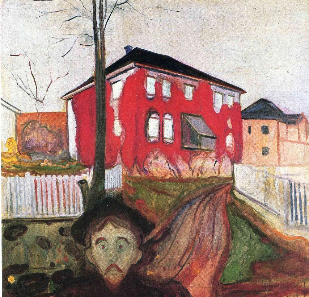 Oil Painting Reproduction on Linen Canvas,red-virginia-creeper-1900 by Edvard Munch,100% handmade,abstract oil paintingOil Painting Reproduction on Linen Canvas,red-virginia-creeper-1900 by Edvard Munch,100% handmade,abstract oil painting