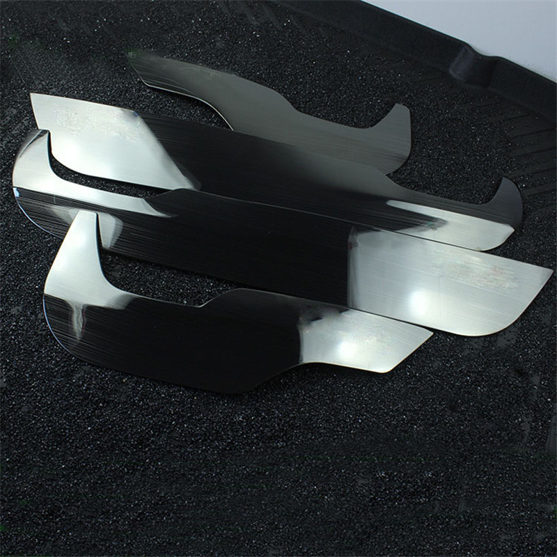 Fit For Honda CRV 2017 Stainless Steel Car Anti Kick Pad Car Door Guard Plate Cover Trim Decoration Car Styling Accesso 4Pcs/Set