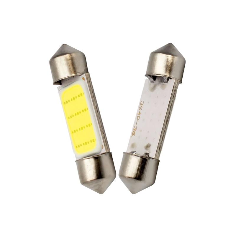 1x C10W C5W светодиодный гирлянда из початков 31 мм 36 мм/39 мм/41/42 мм дневные ходовые огни 12V Белый лампы для автомобилей номерного знака интерьер чтение светильник 6500K 12SMD