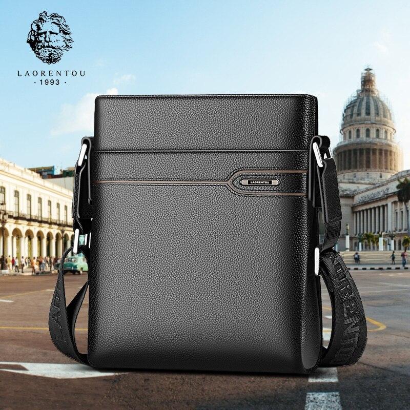 5eb4a7dcde50 LAORENTOU для мужчин's пояса из натуральной кожи бизнес сумка сбоку мужская  сумка на плечо натуральная Кожа винтажный из бычьей кожи повседневно.
