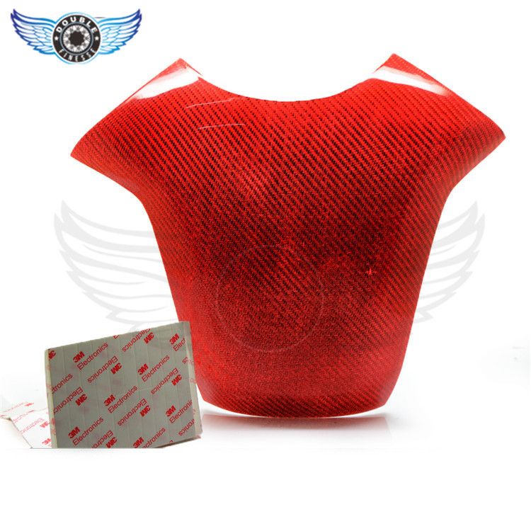 ФОТО brand new motorcycle accessories Real Carbon Fiber fuel gas tank protector pad shield for Honda CBR 1000RR 2008-2011 red color