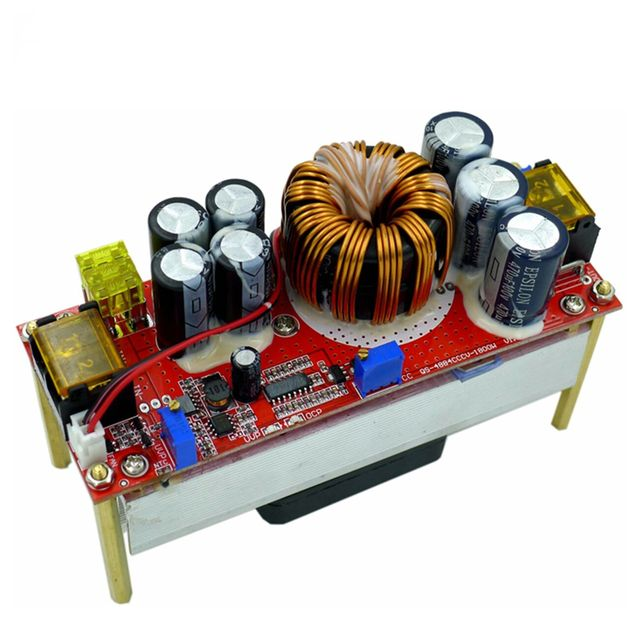 1800W 40A DC DC DC מתח קבוע זרם קבוע Boost ממיר מגביר 10 60V על ידי מאוורר עבור 12 90V Boost כוח מודול