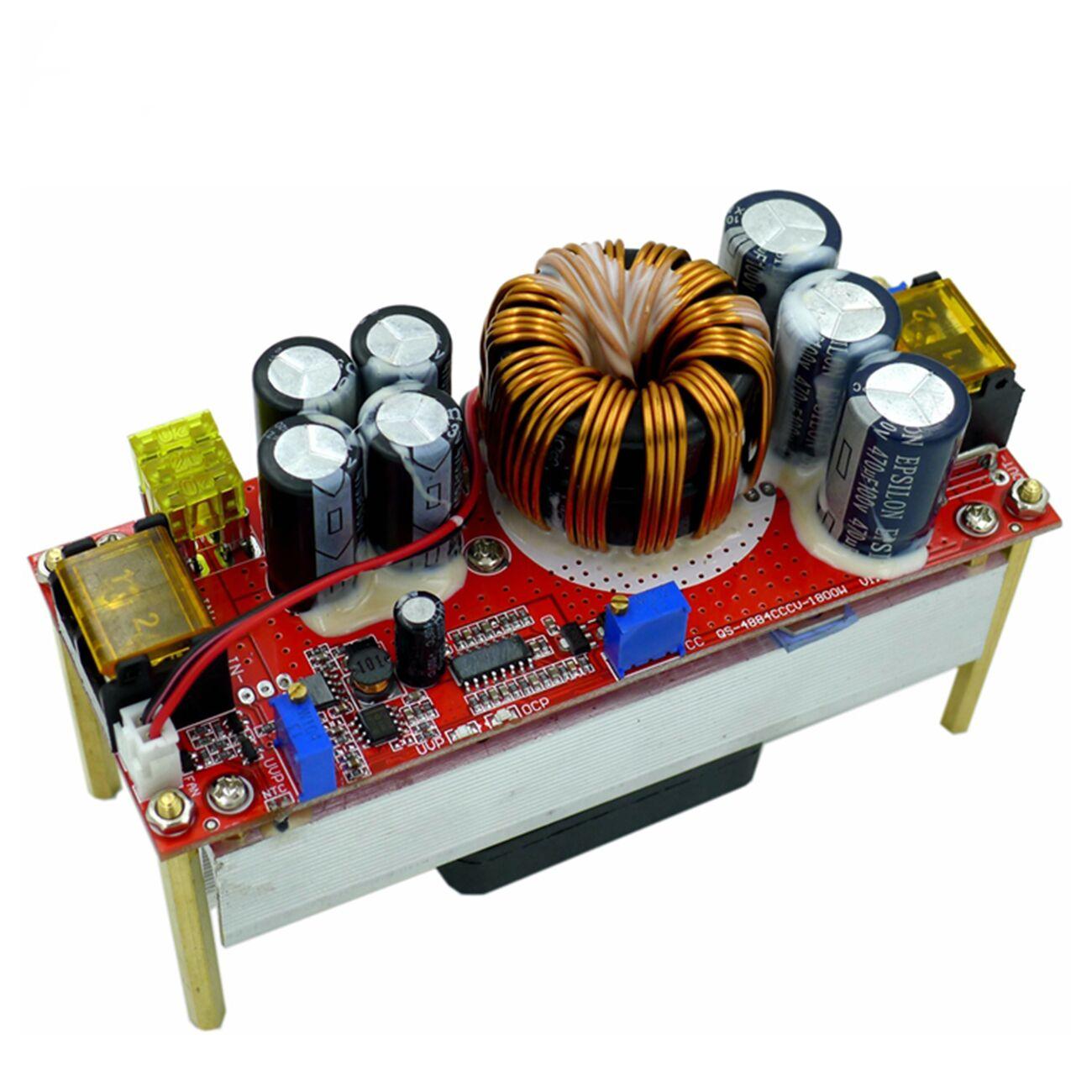 Постоянное напряжение постоянного тока 1800 Вт 40 А, постоянное увеличение тока, конвертер, повышает мощность 10-60 в на вентилятор для модуля по...