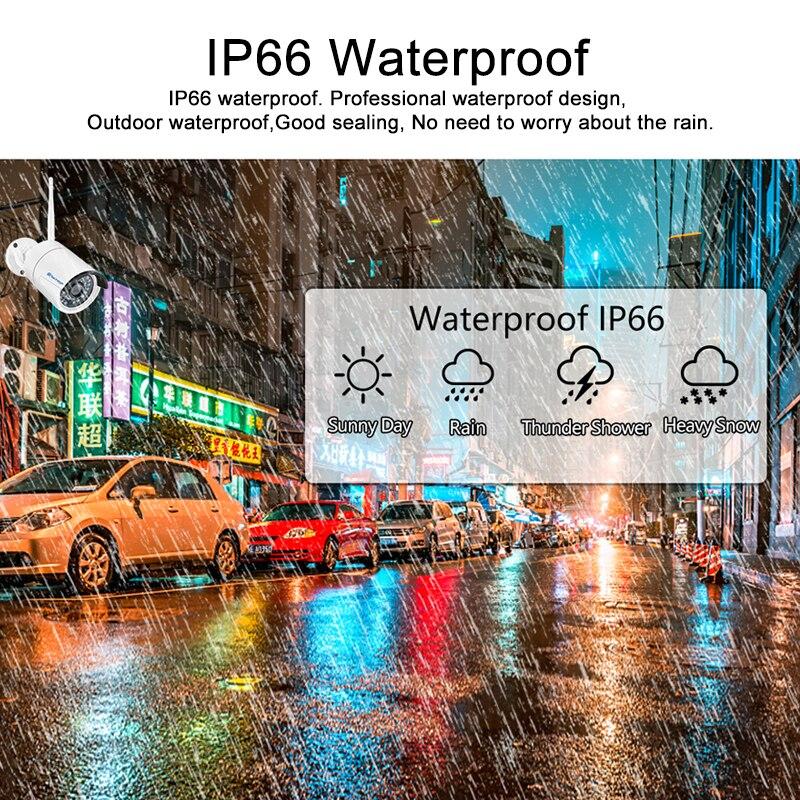 Techage inalámbrico sistema de seguridad 4CH 1080 P NVR Kit 2.0MP IR-CUT al aire libre registro de Audio CCTV cámara IP WiFi Video vigilancia conjunto - 4
