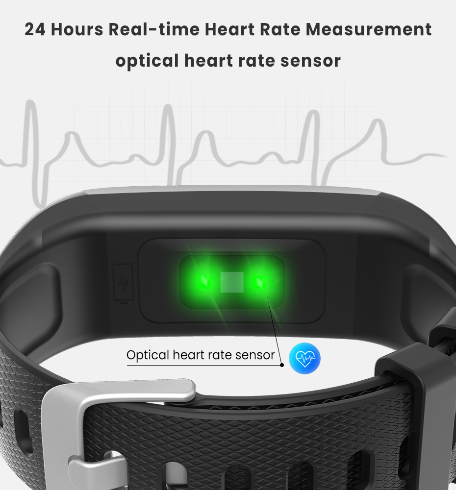 Men Women 1.14 IPS OLED Color Smart Wristbands Pedometer Sports Fitness Bracelet Blood Pressure Heart Rate Monitor Android IOS 4