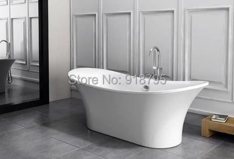 все цены на 1700X800X590mm CUPC Approval Ellipse Acrylic with Fiberglass Resin bathtub Freestanding Seamless Soaking Tub RS6015 онлайн