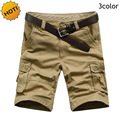Wholesale 2016 Summer Outdoors Workout Bermuda Cargo Shorts Men Straight 100%Cotton Baggy Multi Pocket Military Tactical Shorts