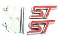 2x Grille ST Emblem 3D Metal Badge Sticker Red Fits 2013 2018 Focus